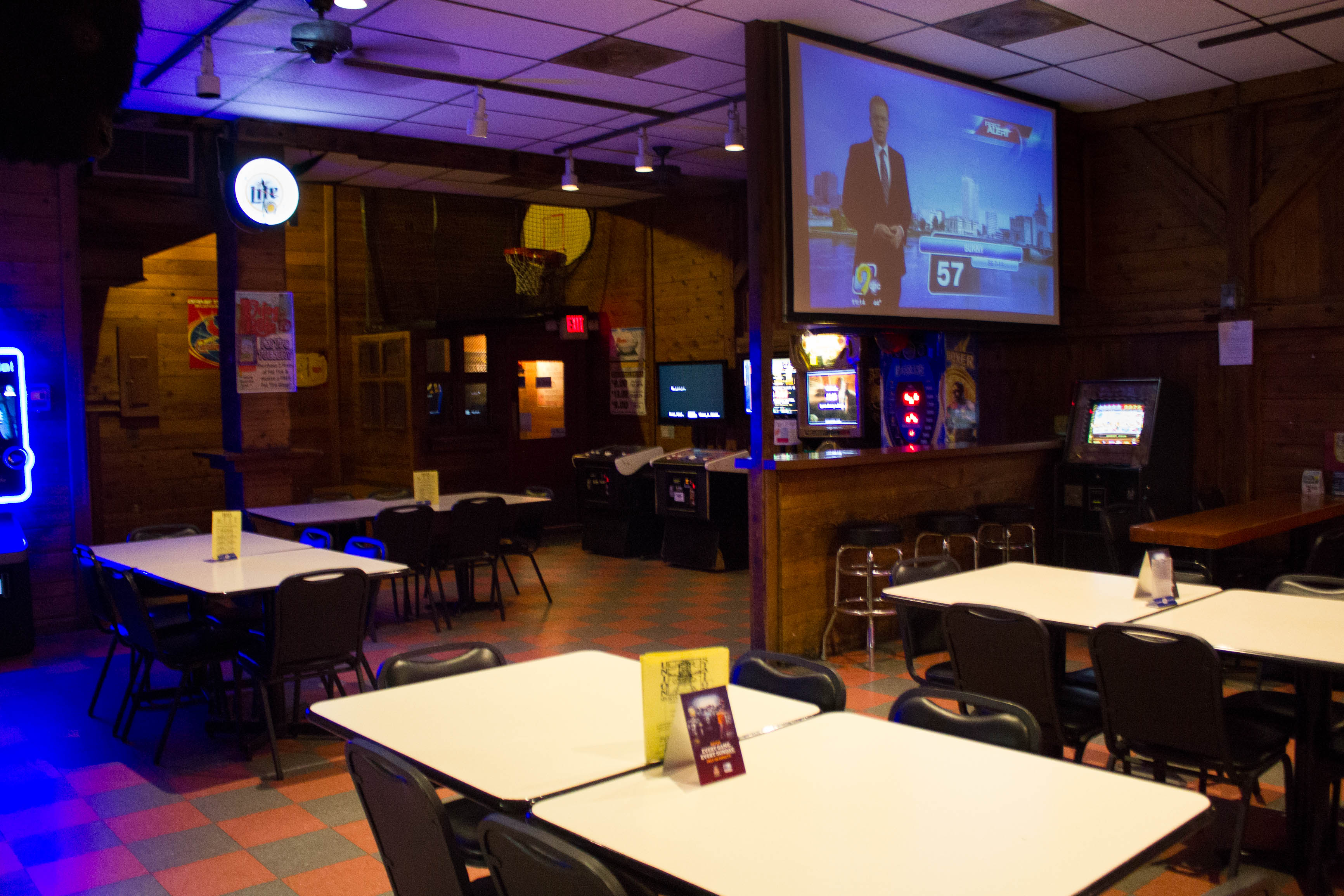 We Have Four Projection Style Screens And Plenty Of Pool Tables